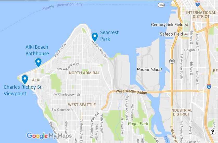 Alki Beach Seattle Map.Alki And West Seattle Cleanup Puget Soundkeeper Alliance