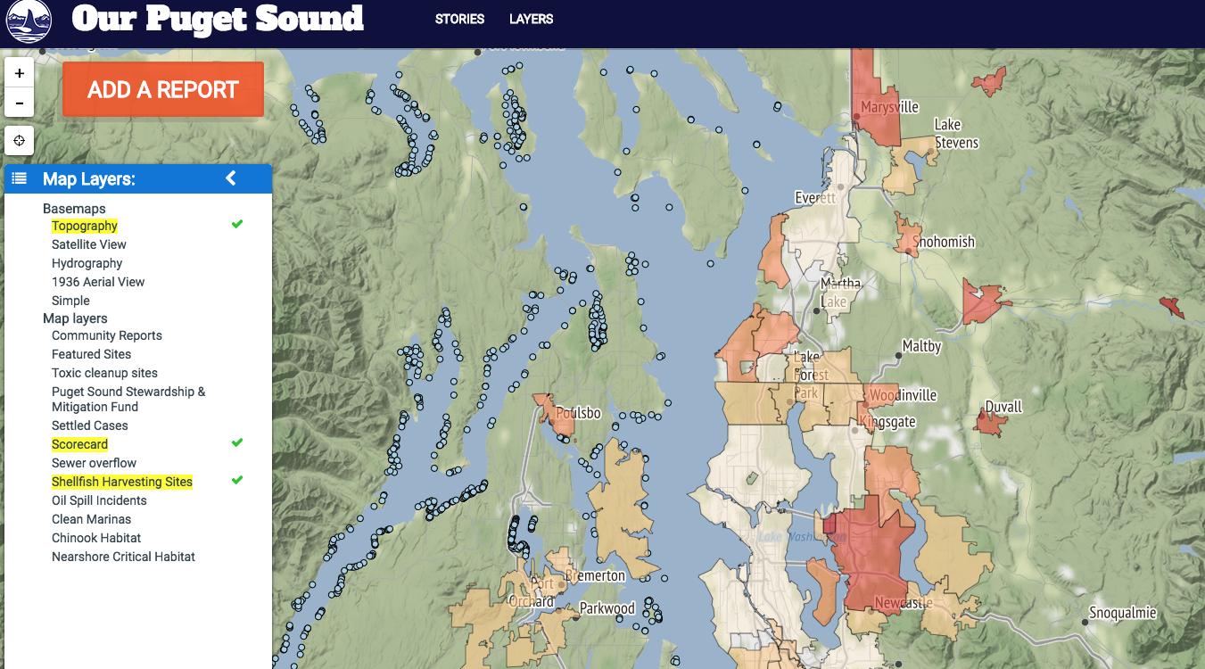 Interactive Mapping Tool Puget Soundkeeper Alliance - Puget-sound-on-us-map